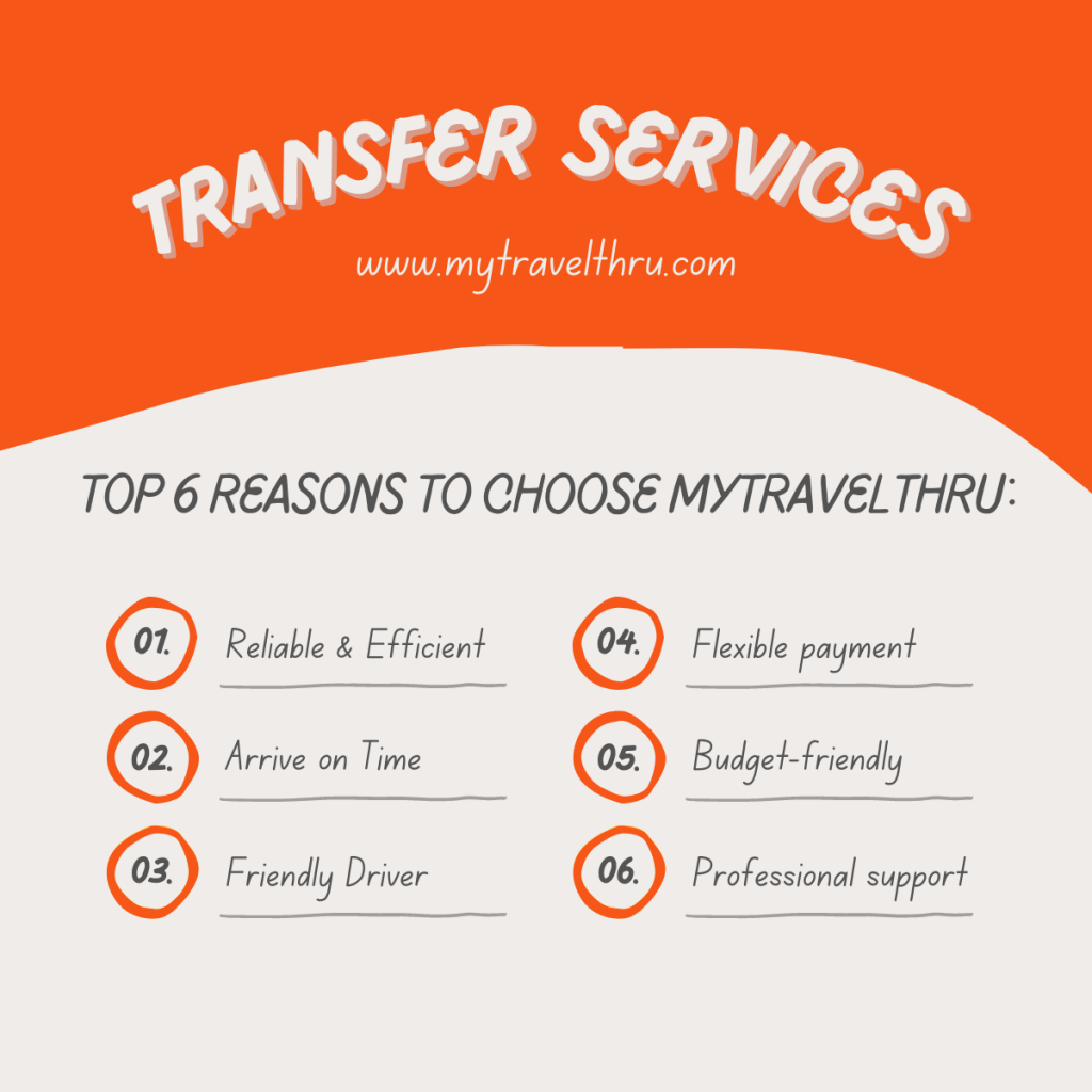 We, MyTravelThru, offer universal pre-booked transfer services to make your travel easy and stress-free